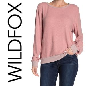 (NWT) WILDFOX-Baggy Beach Sweater in Crimson Crush